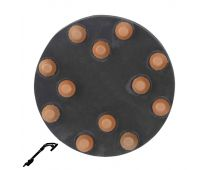 "Refina 60 Grit 9"" Diamond Button Disc, Velcro, For Terrazzo & Stone Polishing - 341085P3"