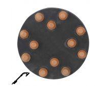 "Refina 220 Grit 9"" Diamond Button Disc, Velcro, For Terrazzo & Stone Polishing - 341085P6"
