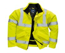 Portwest Hi-Vis Bomber Work Jacket Coat Yellow