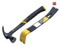Stanley FatMax 576g Antivibe Hammer with Wonder Bar Pry Bar - XMS19AVHBAR