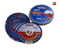 Faithfull Multi-Cut Cutting Discs 115mm (Pack of 10) - XMS19MCOW